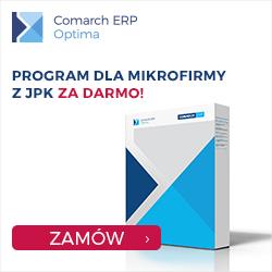 Promocja Comarch ERP Optima, pakiet dla mikrofirmy z JPK za darmo